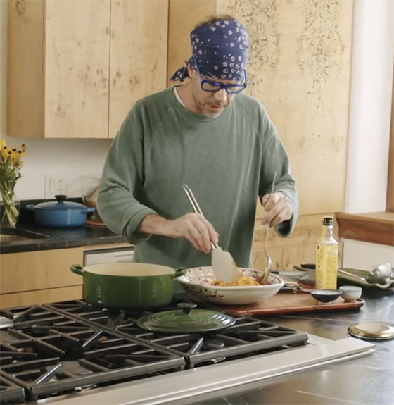 add noodles kimchi bibim