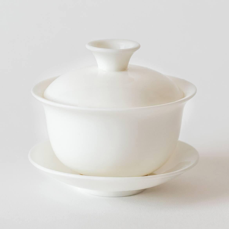 gaiwan product photos classic white