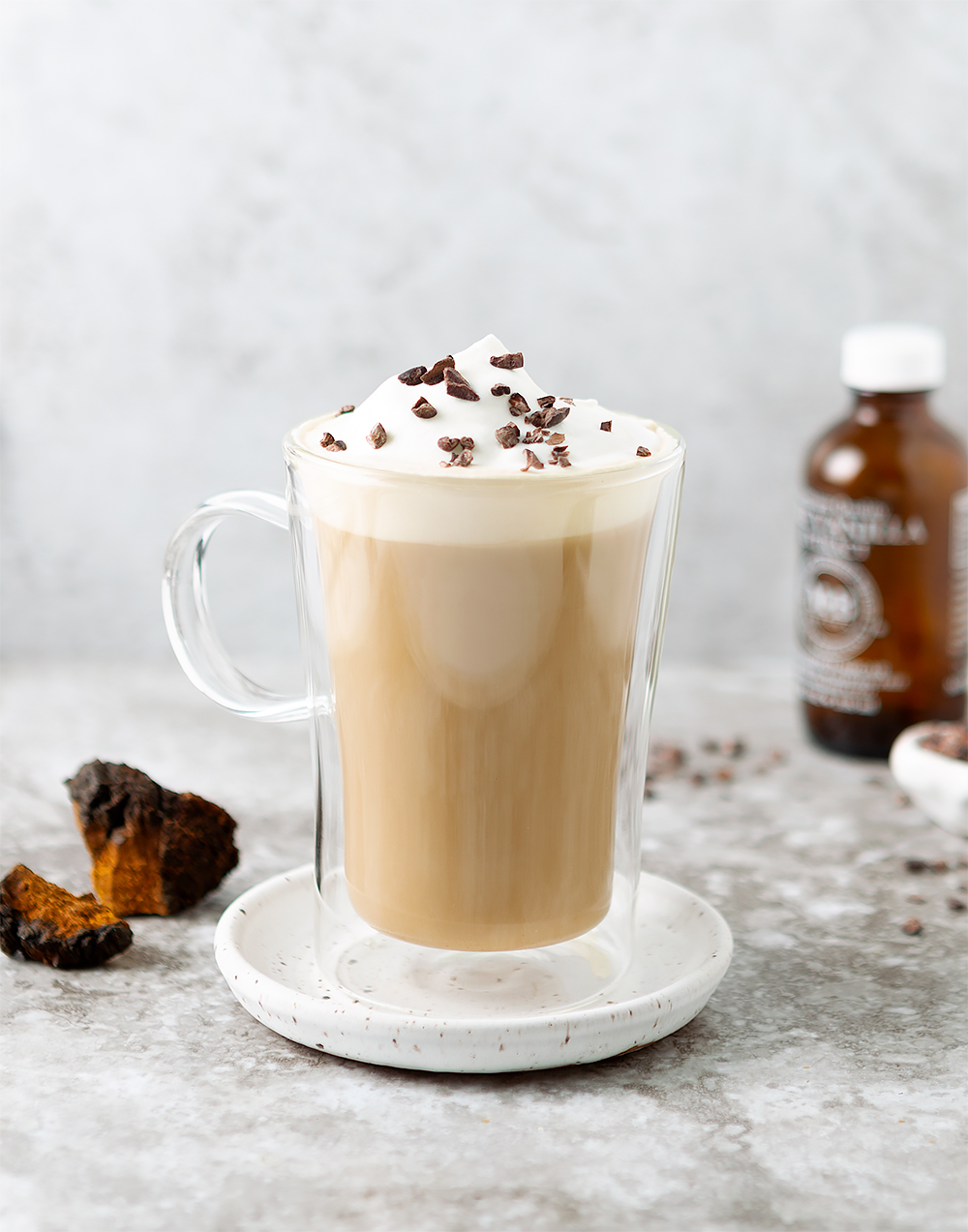 chaga chai whipped cream creative
