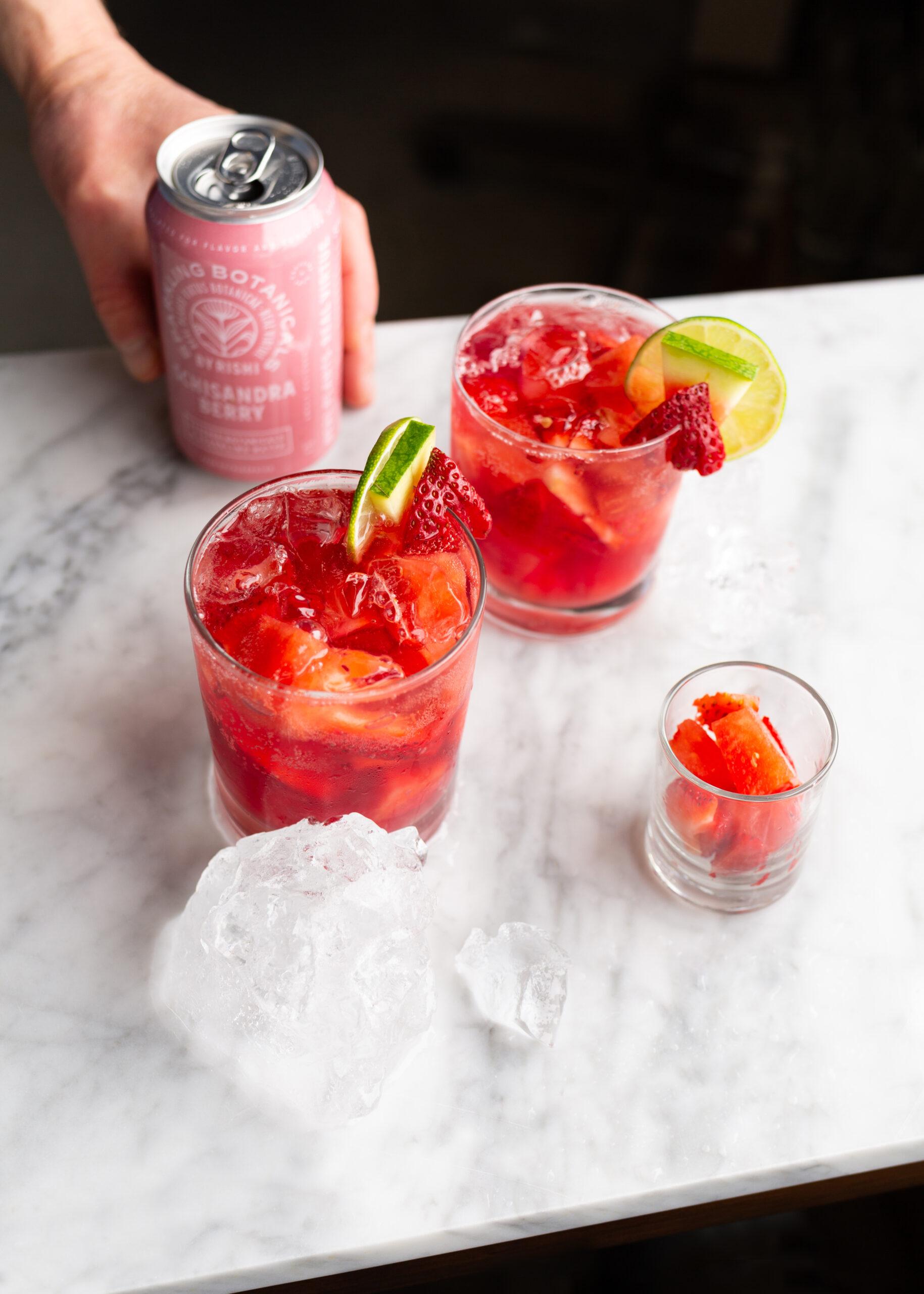 Zero Proof Strawberry Shiso Sangria