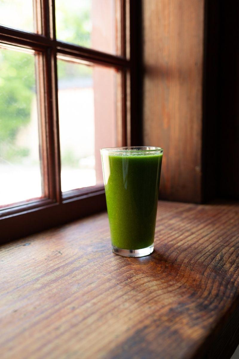 Vivid Green Matcha Smoothie